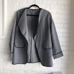 Shein gray sweater jacket/ coat Medium open